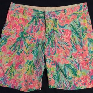 Lilly Pulitzer Fan Sea Pants Shorts, size 14